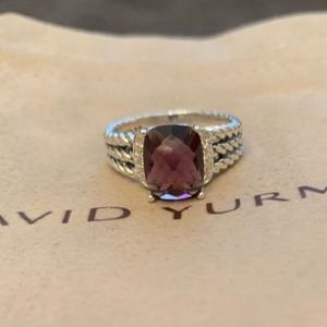 David Yurman Wheaton Ring Amethyst & Diamonds 6.75